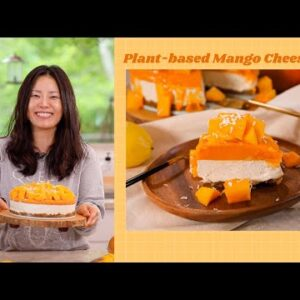 Can you Believe this is 100% Plant-based Mango Cheesecake?! 🤩 🥭 🍰
