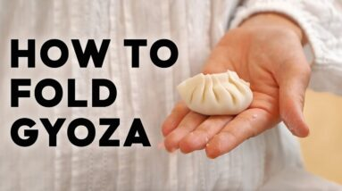 How to fold Gyoza. Easy step by step! #gyoza #dumplings #marionskitchen #howto #asianfood #withme