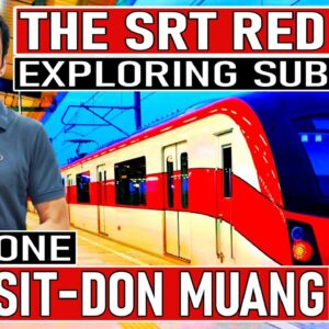 SRT Red Line Bangkok Part 1. Rangsit to Don Muang. An urban exploration of areas not seen before.