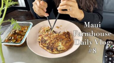 Maui Farmhouse Vlog #8 Celery Juice, Healthy Smoothies, Watching New K-Drama, Brunch at Home