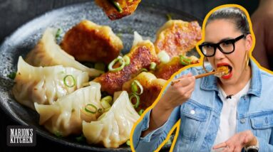 Ham & cheese dumplings are my new obsession | Ham & Cheese Toastie Potstickers | Marion's Kitchen